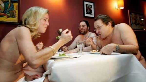 Consider, Girl naked at restraunt Seldom