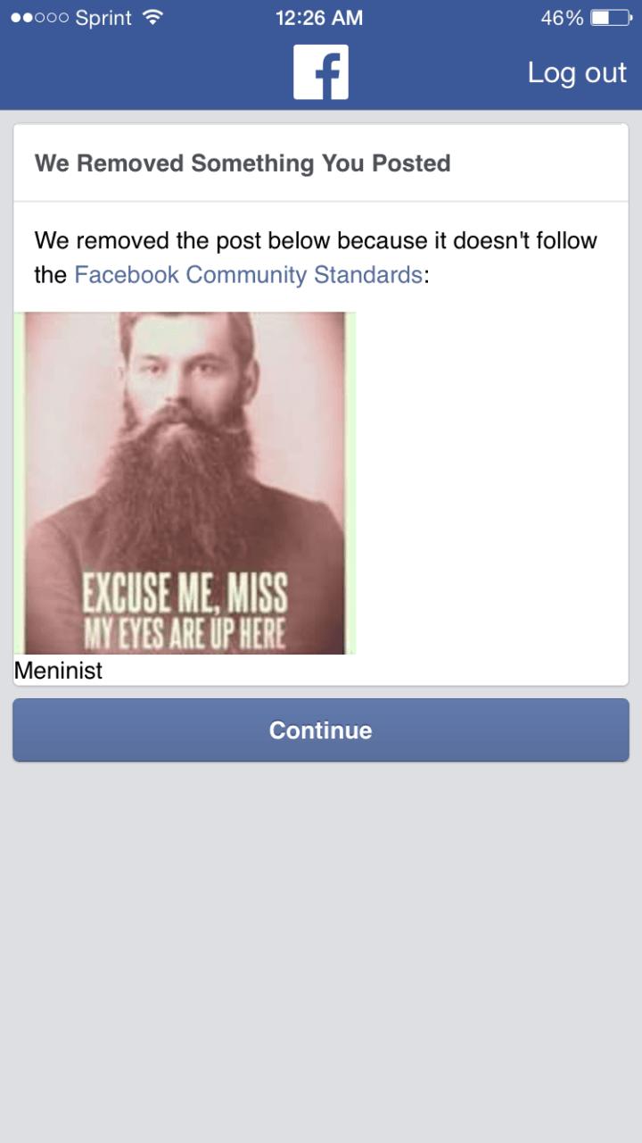 3 facebook bans popular 'meninist' meme page for \