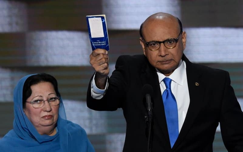 Featured image for Father Of Slain Muslim Soldier Challenges Donald Trump To Take A Naturalization Test