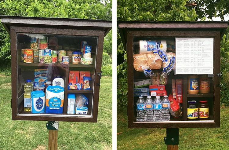 Featured image for This Little Pantry Lets People Leave Food and Items For The Needy