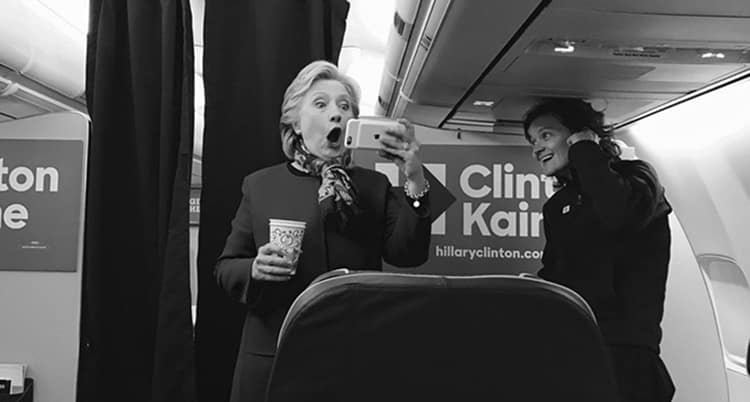 Featured image for Hillary Clinton Makes Face — For The Cubs, or The Yankees?
