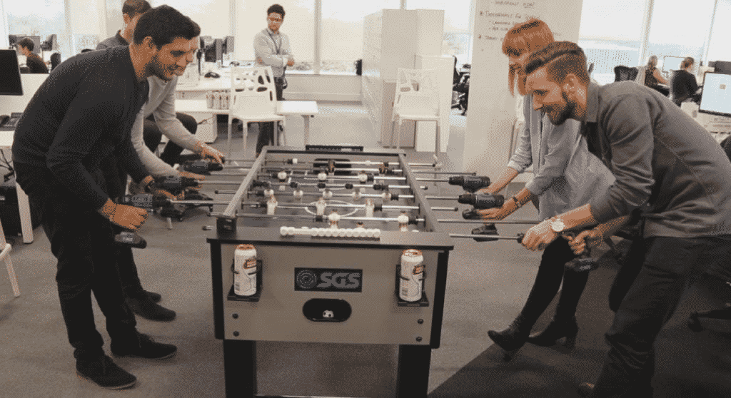 Featured image for Office Creates Epic 'Power Drill Foosball' And You Have To Check It Out