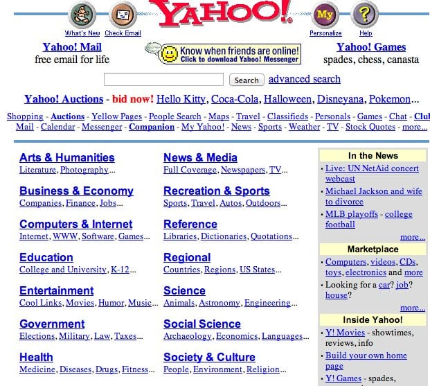 You Won't Believe What These Popular Websites Looked Like In