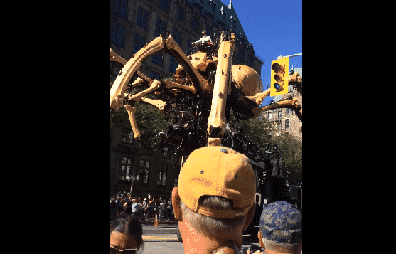 Featured image for Ottawa Archbishop Catches Heat for Allowing Giant Robot Spider To Take Over Church