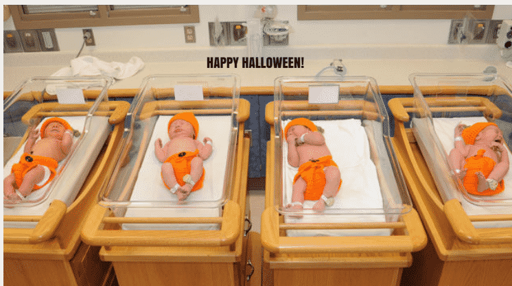 Featured image for This Hospital Dresses Its Halloween Newborns as Pumpkins