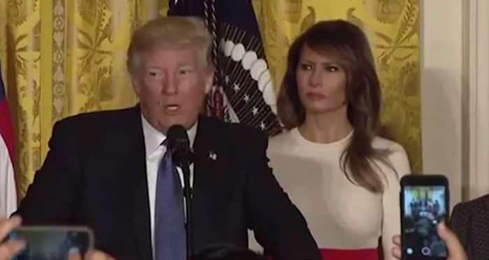 Melania Trump is not impressed