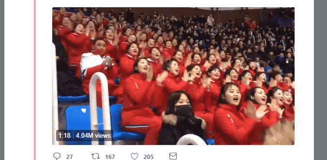 "Featured image for The ""North Korean Cheer Squad"" Is….Something You Just Gotta See"