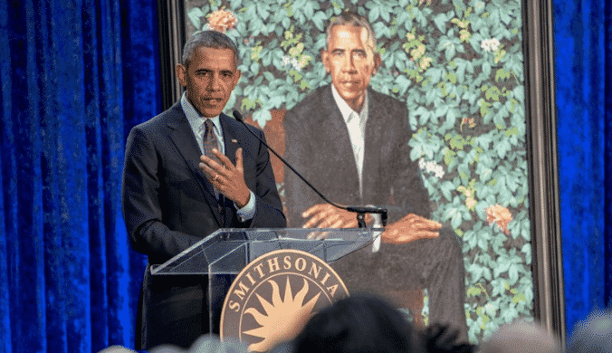 Featured image for Obama Jokes About His Recently Revealed Portrait
