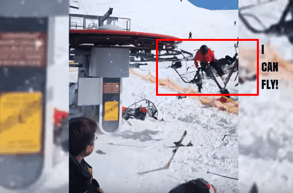 Featured image for Evil Ski Lift Gets Possessed and Starts Spinning in Reverse, Tossing Petty Humans Aside