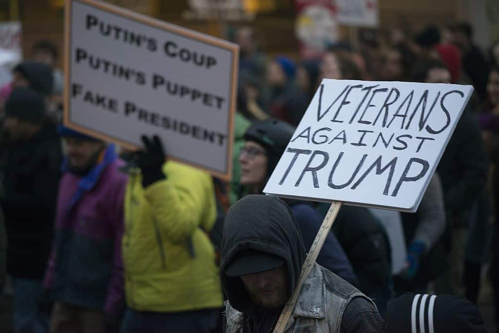 Featured image for Trump Loves Veterans But Doesn't Want them Nearby
