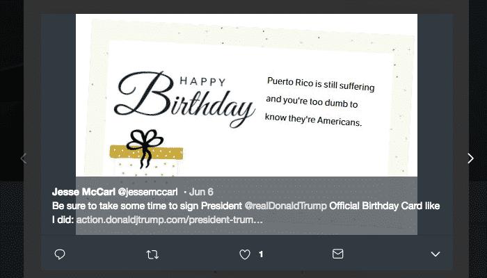 Sign Trumps Official Birthday Card Tecstar
