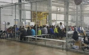 Central Processing at McAllen Border Patrol facility