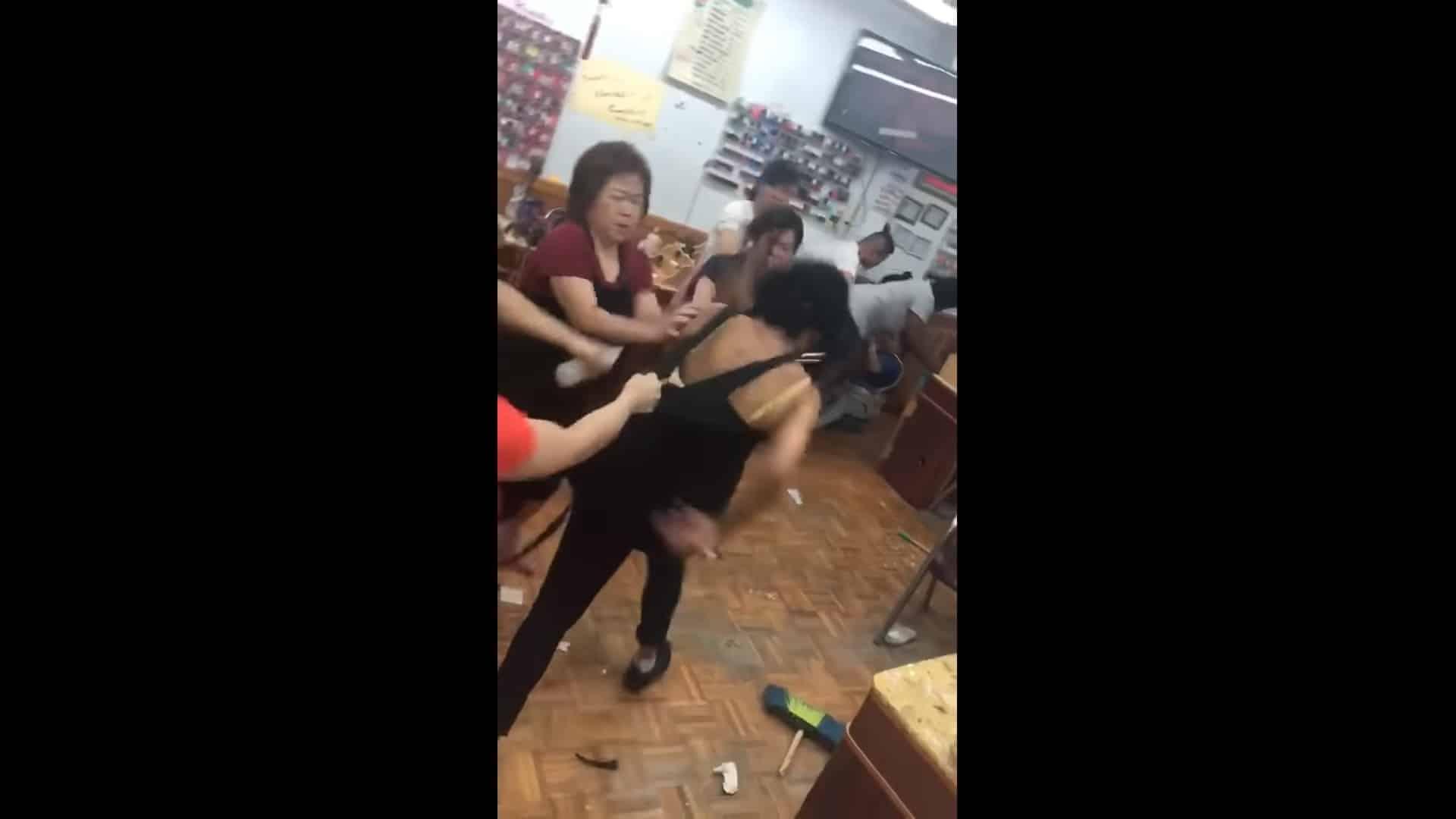 Botched 5 eyebrow wax sparks asian salon brawl in for Salon brawl