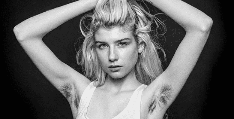Hairy Situation Eccentric Artist Turns Women S Long Armpit Hair