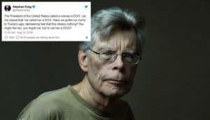 Stephen King Is Calling Attention to How Much Trump Really Likes Calling People Dogs