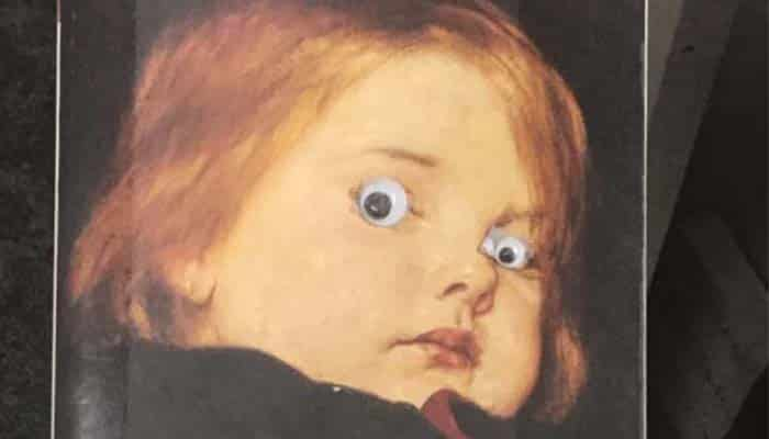 A Library is Pleading with Visitors to Stop Sticking Googly Eyes on Book Covers
