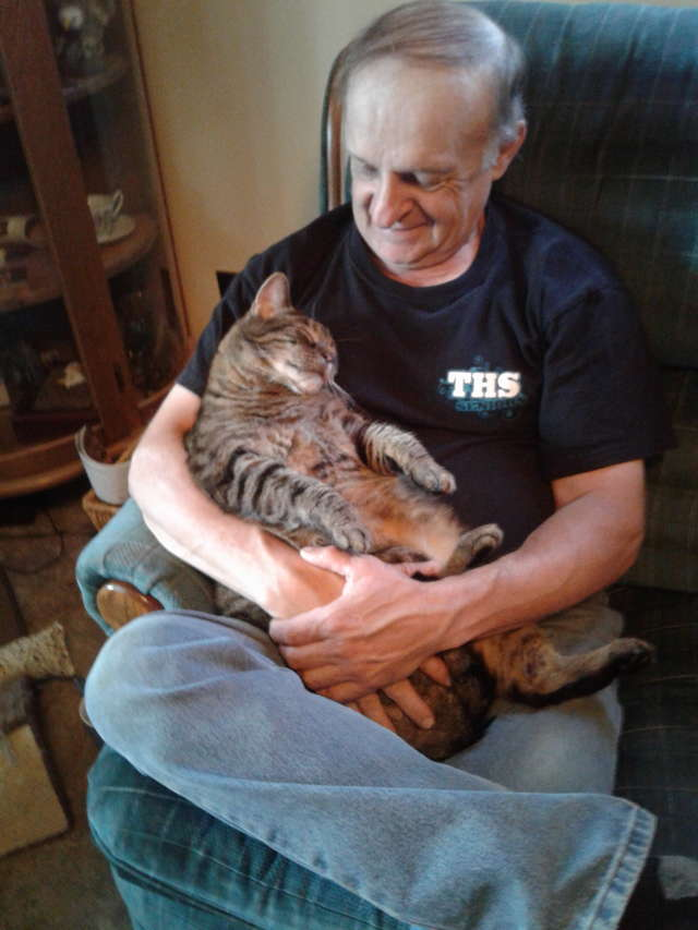 Adorably Bossy Cat Demands Cuddles From His Dad For Half an Hour Every Morning
