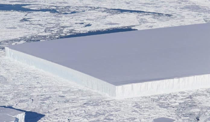 rectangular iceberg