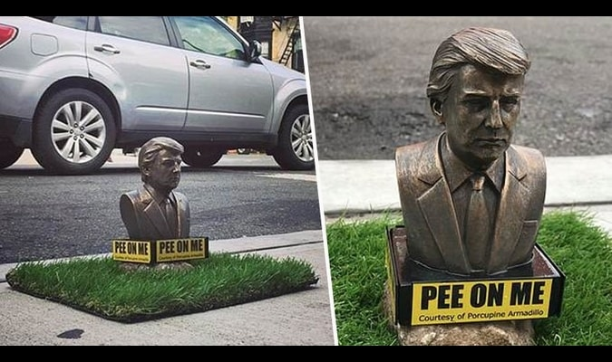 Featured image for New Yorkers Invite Dogs To Pee On President Trump