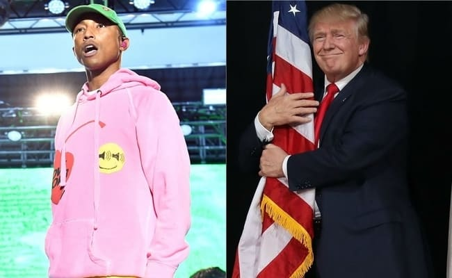 """Featured image for Pharrell Tells Trump: """"Lay Off All The 'Happy' Stuff, Ight"""""""