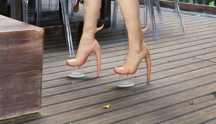 Featured image for High Heel Hell: Someone Made High Heels That Look Like Human Skin, They Cost $10,000