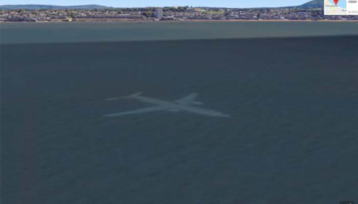 Plane Spotted Under the Sea on Google Earth, But There's a Simple Explanation