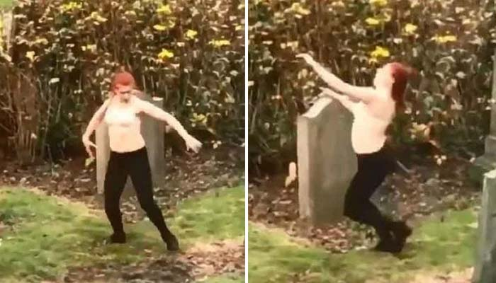 Woman Filmed Dancing Half-Naked in Graveyard Says She Was Not Trying to Raise the Dead