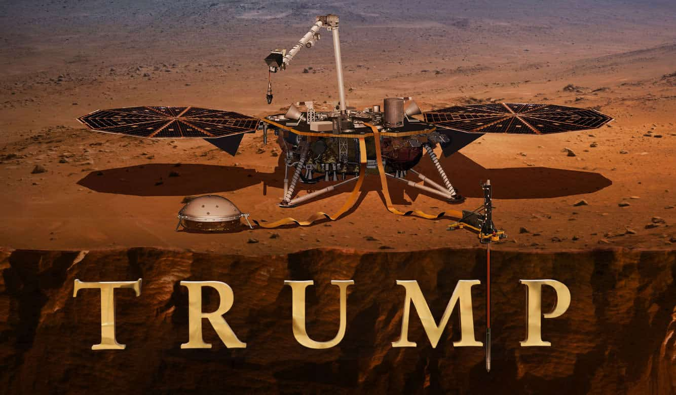 Featured image for Insight Lands on Mars, Finds Giant Sign Pointing to Trump's Origins
