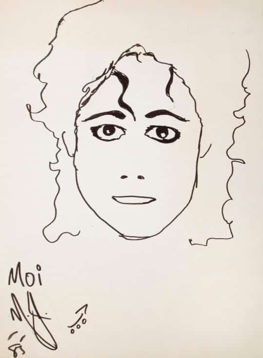 Never-Before-Seen Artwork By Michael Jackson to Go on Sale This Friday