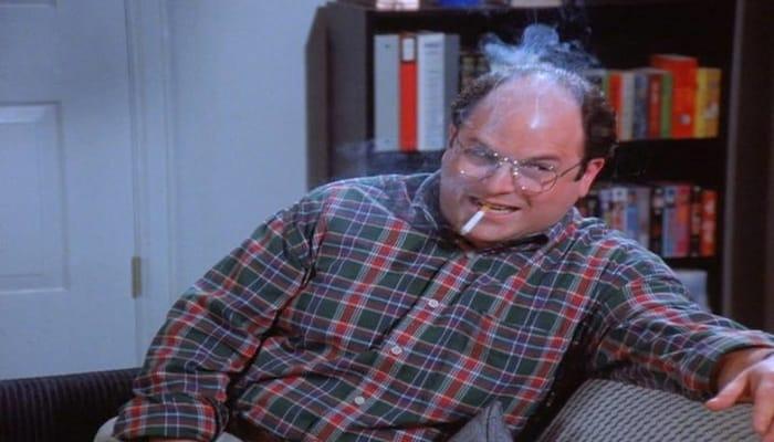 smokes cigarette
