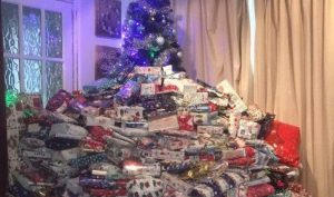 mountain of gifts