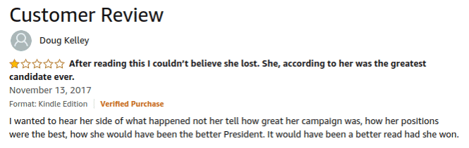 Petty Reviews Of Hillary Clinton's Books