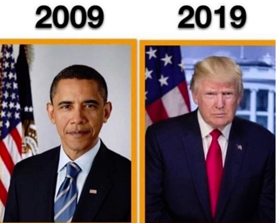 the 10 year challenge the white house version. Black Bedroom Furniture Sets. Home Design Ideas