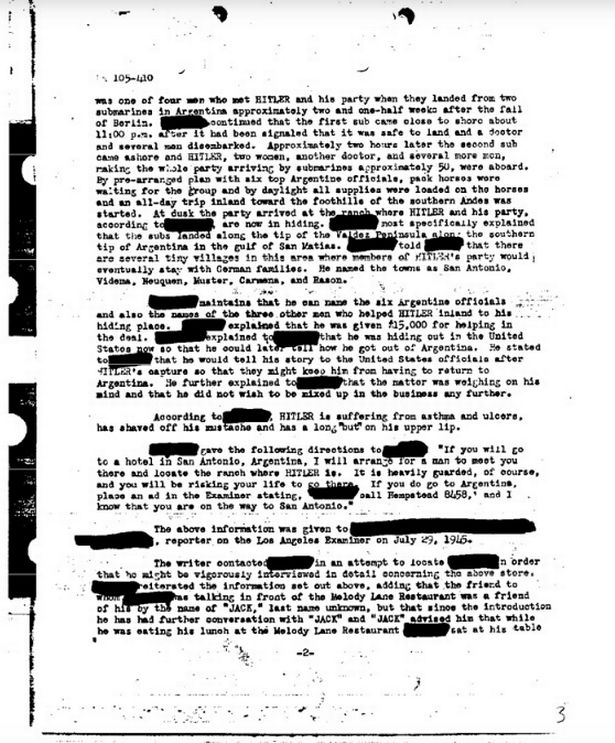 Did Hitler Survive World War II? FBI Examined Claims Fuhrer Escaped in Submarine