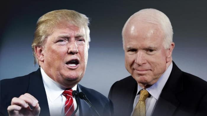 Trump McCain Feud